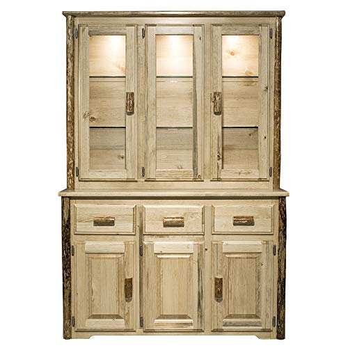 - Montana Woodworks MWGCCHLDAZ China Hutch & Sideboard, Clear Lacquer Finish