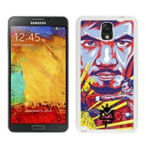 Samsung Galaxy Note 3 Cover Case,Manny Pacquiao Pac Man Boxer Destroyer Champion White Cool Customized Samsung Galaxy Note 3 Case