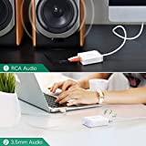 UGREEN USB External Stereo Sound Card Audio Adapter with 3.5mm Aux and 2RCA Converter for Speaker, Headphone and Microphone, Earphone, Headset, Plug and Play on Windows, Mac, Linux and PS4, 3ft Cable