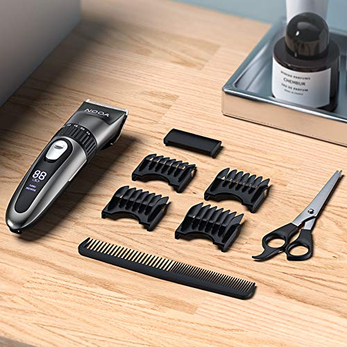 NOOA Hair Clippers Cordless Hair Trimmer Men\'s Beard Trimmer Complete Haircut Grooming Kit Hair Cutting Kit for Men, Women & Kids Rechargeable
