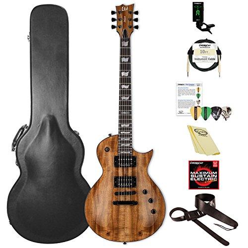ESP LEC1000KNAT-KIT-2 Eclipse Series EC-1000 Koa Electric Guitar, Natural Gloss