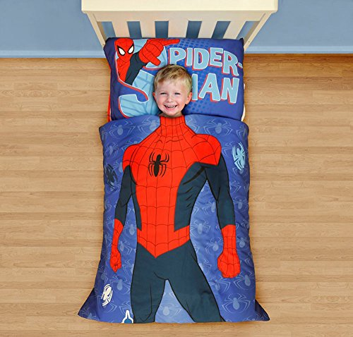 Marvel Spiderman I am Spiderman Toddler Bed Set, Multi