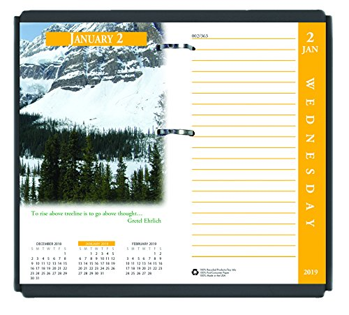 (House of Doolittle 2019 Desk Calendar Refill, Daily, Earthscapes, Fits #17 Base, 3.5 x 6 Inches, January - December (HOD417-19))