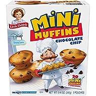Little Debbie Chocolate Chip Mini Muffins, 20 Mini Muffins in 5 Pouches