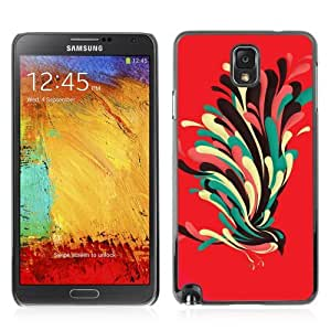 Designer Depo Hard Protection Case for Samsung Galaxy Note 3 N9000 / Cool Colorful Bird