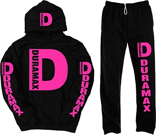 Duramax Pink Logo Set, Medium Hoodie with Medium Sweatpants