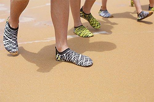mujeres de amarillas ejercicio descalzados Franjas natación hombres para calcetines piscina agua para playa y Zapatos fdxqn8v6v