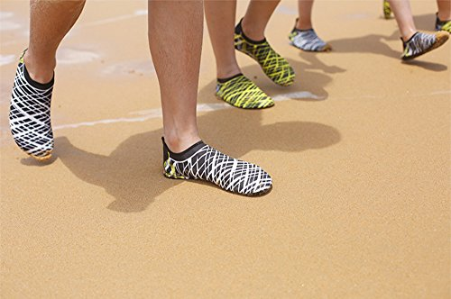 Shoes Pool Socks Beach White Exercise Swim Water Men Women Stripes Barefoot 41wdxqHUtF