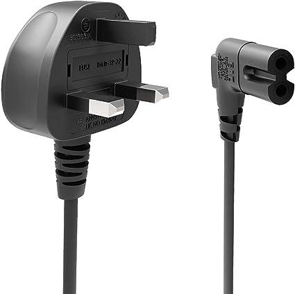Vytal 5M Power Cable Lead UK Plug to IEC C7 Figure 8 2 Pin Cord for Samsung Philips Toshiba LG Sony Panasonic LED Flat TV Sky Box XBOX One S PS3//4