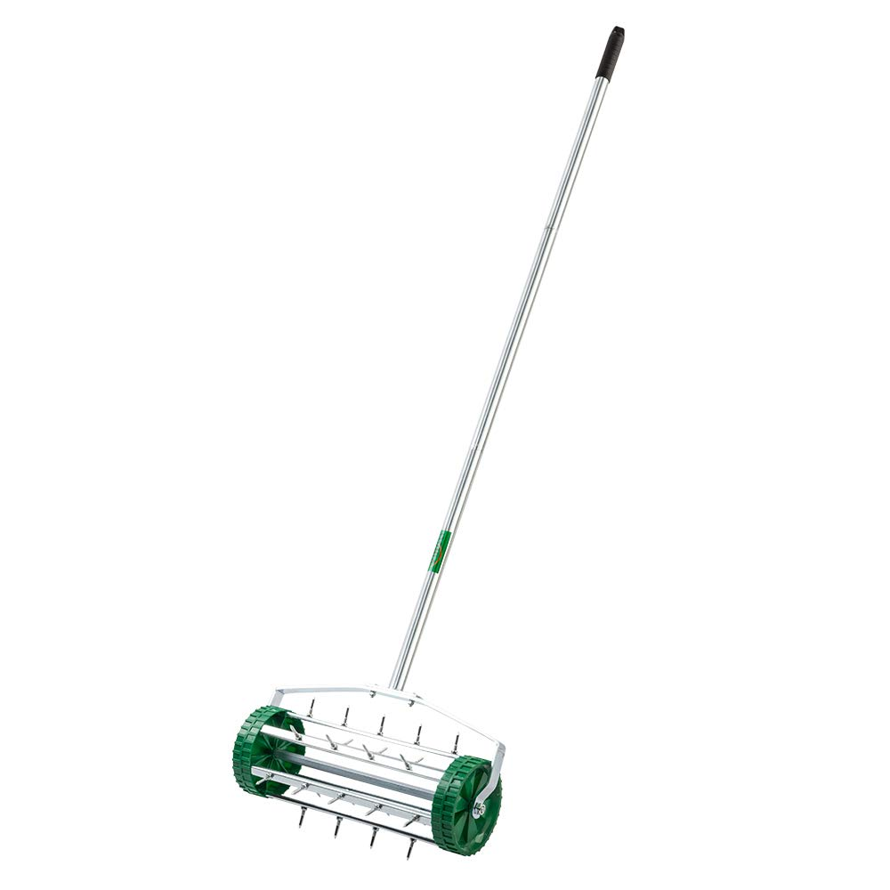 VINGLI Rolling Lawn Aerator Gardening Tool, Push Spike Tine Roller for Home Garden Yard Patio Grass Soil Aeration by VINGLI