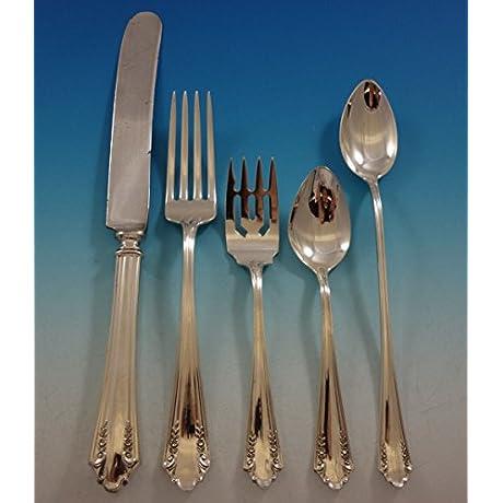 Shenandoah By Alvin Sterling Silver Flatware Set For 12 Service 66 Pieces Dinner