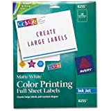 Avery Products - Avery - Inkjet Labels for Color Printing, 8-1/2 x 11, Matte White, 20/Pack - Sold As 1 Pack - Provide vivid color and sharp text for brilliant, high-resolution color images. - Ideal for mailings, messages, invitations and announcements. - Guaranteed printer performance in HP, Canon, Epson and other popular printers.