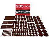 Furniture Pads for Wood Floors X-PROTECTOR Premium GIANT Pack Furniture Pads 235 piece! GREAT QUANTITY of Felt Pads Furniture Feet with MANY BIG SIZES – Your Best Wood Floor Protectors. Protect Your Hardwood & Laminate Flooring!