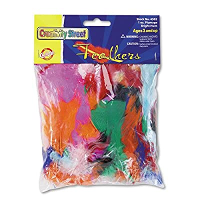 Creativity Street : Bright Hues Feather Assortment, Approximately 325 Feathers per Pack -:- Sold as 1 PK: Industrial & Scientific