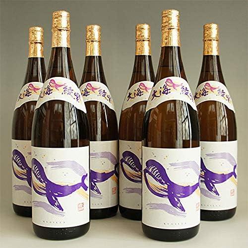 くじらのボトル 綾紫 白麹 1800ml 6本 芋焼酎 25度 大海酒造