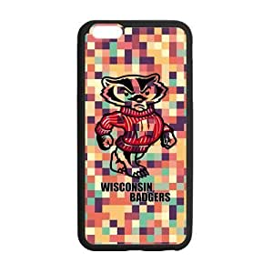 Generic Customize Unique Design NCAA Wisconsin Badgers Team Logo Plastic and TPU Case Cover for iPhone6 Plus 5.5 hjbrhga1544
