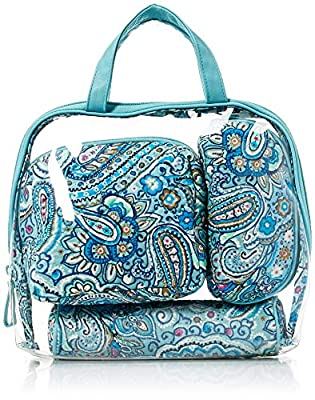 Vera Bradley Iconic 4 Pc. Cosmetic Organizer, Signature Cotton