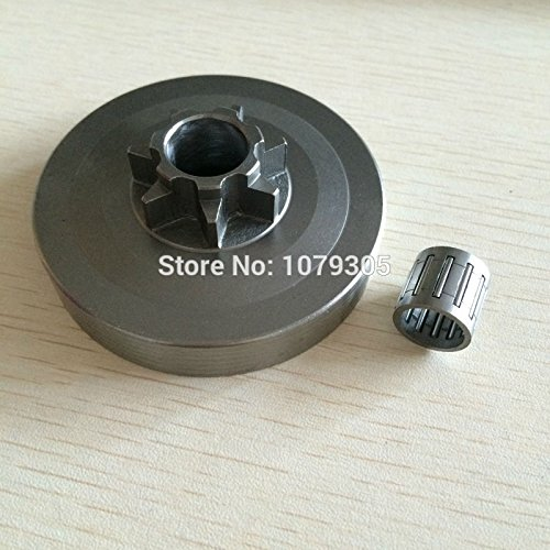 4500 5200 5800 Chainsaw Sprocket Rim Clutch Drum One Body wtih Needle Bearing Set -