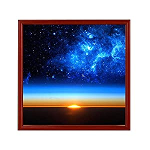 Clearance Sale 5D Diamond Painting Rhinestone Science Fiction Blue Starry Sky Dawn Horizon Embroidery Wallpaper DIY Cross Stitch Arts Kit Crystal for KidsFor Adult Decoration Drawing 30X30CM