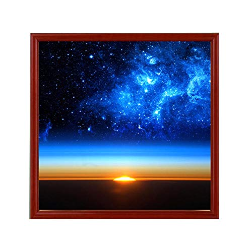 5D Diamond Painting Rhinestone Science Fiction Blue Starry Sky Dawn Horizon Embroidery Wallpaper DIY Cross Stitch Arts Kit Crystal for KidsFor Adult Decoration Drawing 30X30CM