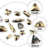 120 Pcs Multi Shapes Glass Crystal AB Rhinestones