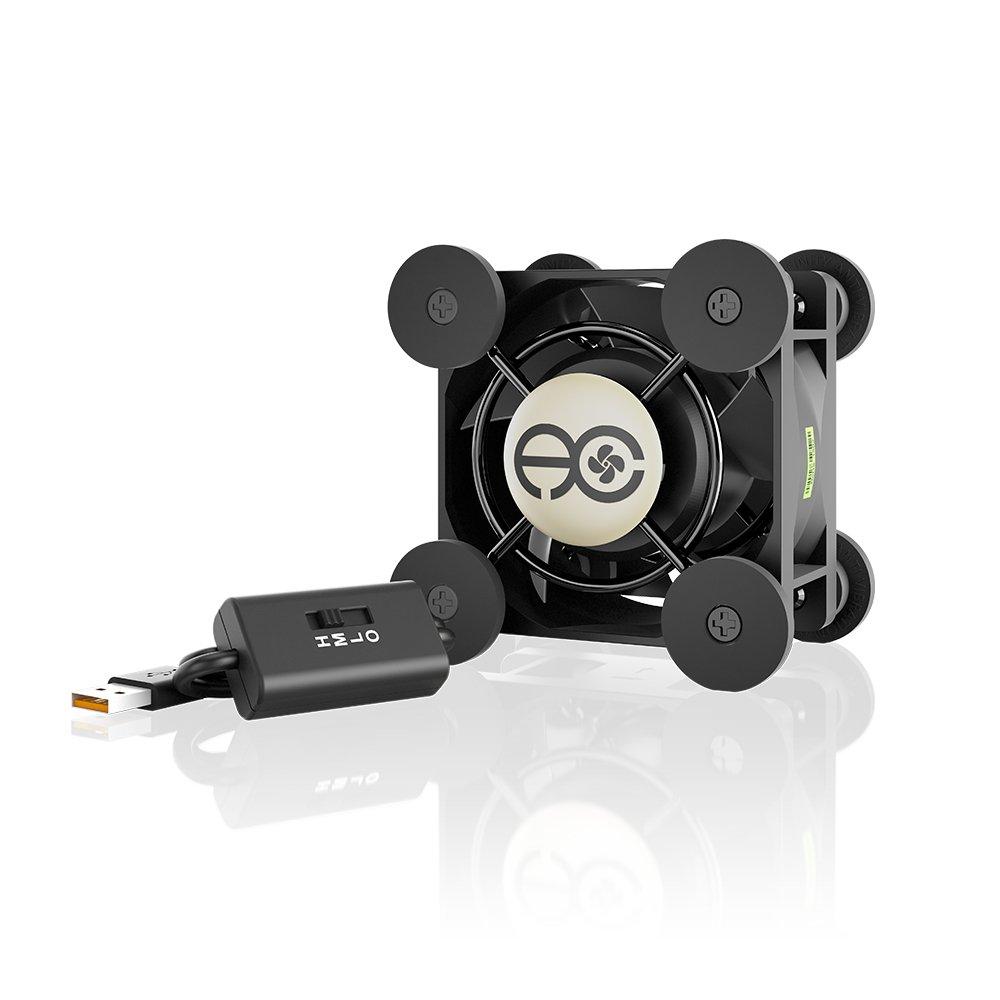 AC Infinity MULTIFAN Mini, Compact 40mm USB Fan for VR Gear, Aquarium, Roku, Router, Raspberry Pi, Cosplay, Helmet Cooling Ventilation
