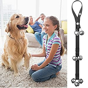 Dog Doorbells Premium Quality Training Potty Great Dog Bells Adjustable Door Bell Dog Bells for Potty Training Your Puppy the Easy Way - Premium Quality - 7 Extra Large Loud 1.4 DoorBells by papikin