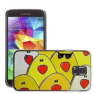 Etui Housse Coque de Protection Cover Rigide pour // M00151316 Pollo fresco Pollos Madera // Samsung Galaxy S5 S V SV i9600 (Not Fits S5 ACTIVE)
