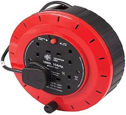 2-4WAY 5M//10M//25M CABLE EXTENSION REEL LEAD MAINS SOCKET  ELECTRICAL OUTDOOR BLU