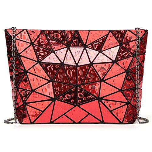 PPGE Rhombique Main Bag Red Droplets Géométrie Bandoulière À Sacs Sacs À Messenger Femmes BUqrwnXU