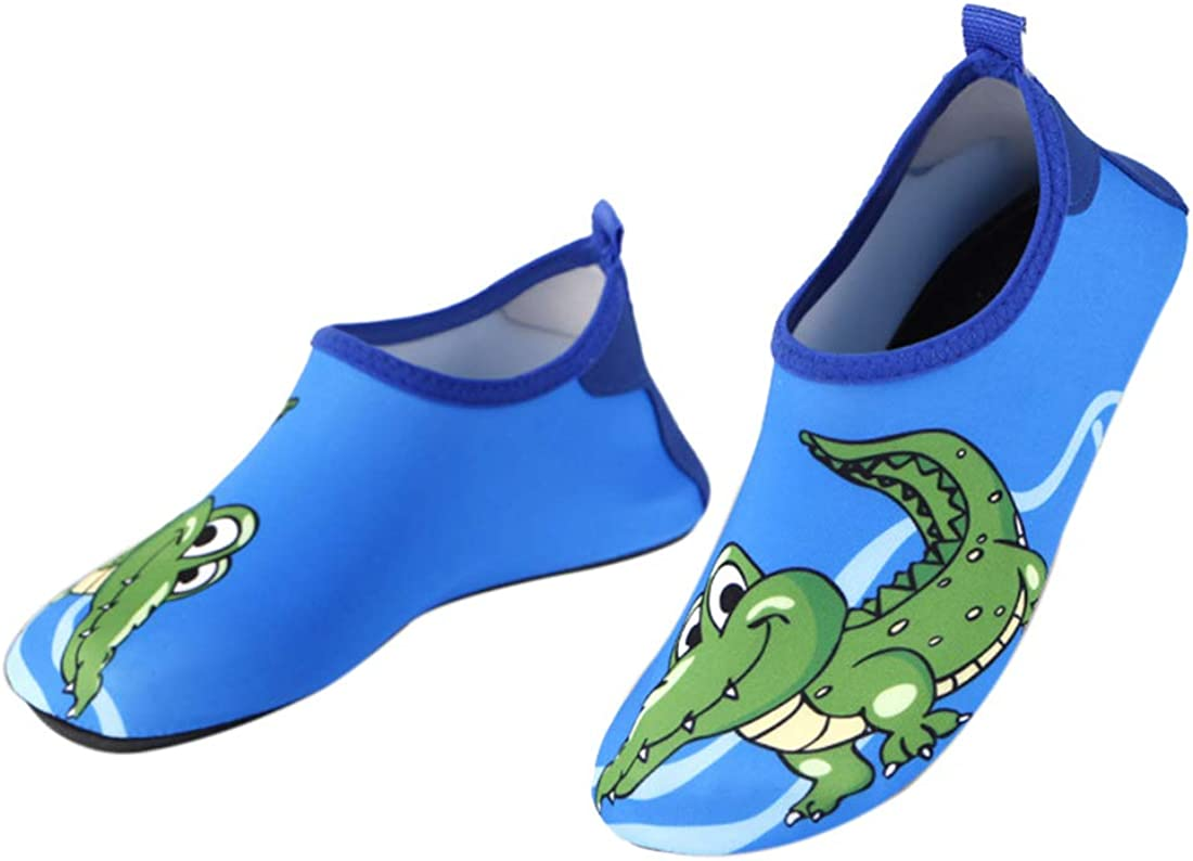 Souple Antiglissant S/échage Rapide GWELL Enfant Animaux Cartoon Chaussons pour Sports Aquatiques Chaussettes de Plage Fille Gar/çon