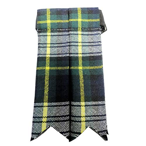 Ingles Buchan Mens Worsted Wool Scottish Tartan Sock Flashes Dress Gordon