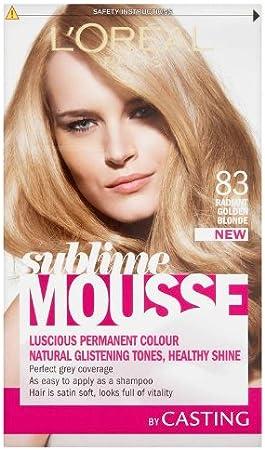 LOreal Paris Sublime Mousse, tinte para el pelo, tono Radiant Golden Blonde 830
