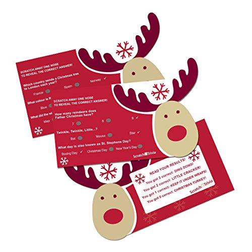 Foil Stars Cerise (PST Rocking Rudolph Scratch Trivia Cards)
