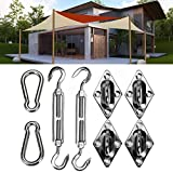 Hantick Sun Shade Sail Hardware Kit,6 Inches Super Sturdy and Firm Stainless Steel for Triangle Shade Sails Installation Outdoor (For Rectangle & Square Shade Sails 5 Inch)