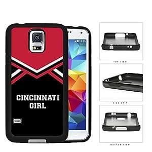 Cincinnati City Girl School Spirit Cheerleading Uniform Samsung Galaxy S5 SM-G900 Rubber Silicone TPU Cell Phone Case