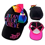 JOJO SIWA New Bow Hat Girls Black Rainbow Cap Sunhat Dream
