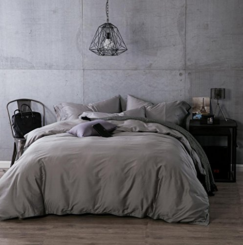 Kiss&tell Egyptian Cotton Solid Color King Duvet Cover Sets