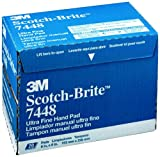 Scotch-Brite(TM) Ultra Fine Hand Pad 07448, Silicon Carbide, 6'' Width x 9'' Length, Ultra Fine Grit, Gray  (Pack of 60)