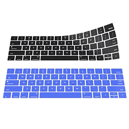 MoKo Keyboard Cover for Macbook Pro 13/15, [2-PACK] Soft Silicone Keyboard Skin Protector for Newest MacBook Pro 13