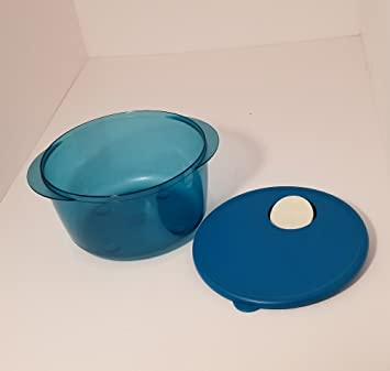 Tupperware Rock N Serve - Bandeja redonda para microondas (2 cuartos), color azul