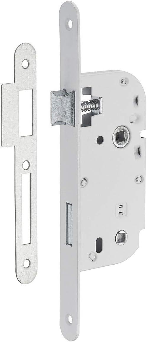 Serrupro - Cerradura empotrable para puerta interior con condena - V/BR