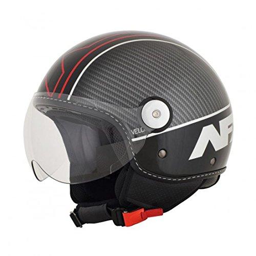 AFX FX-33 Helmet - Veloce (XX-LARGE) (BLACK/RED)