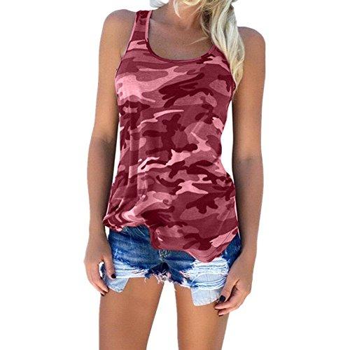 lgant Rogue Taille Femme Printemps Femme Vetements sans Fashion Femme Manche Chemise Tank camouflage Blouse HAPPYSS Ete T Vin Grande Shirt Veste Dbardeurs 1wBvPxvqTY