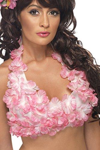 Smiffy's Women's Hawaiian Hula Top,  Pink, One Size, 34018 ()