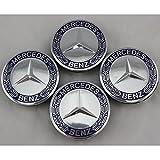 Car-Emall Mercedes-Benz 75mm Outer Diameter Wheel Center Hub Caps 4-pc Set Special Offer