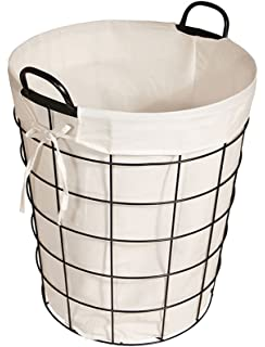 Cheungu0027s 16S005 Lined Metal Wire Basket With Handles, Black