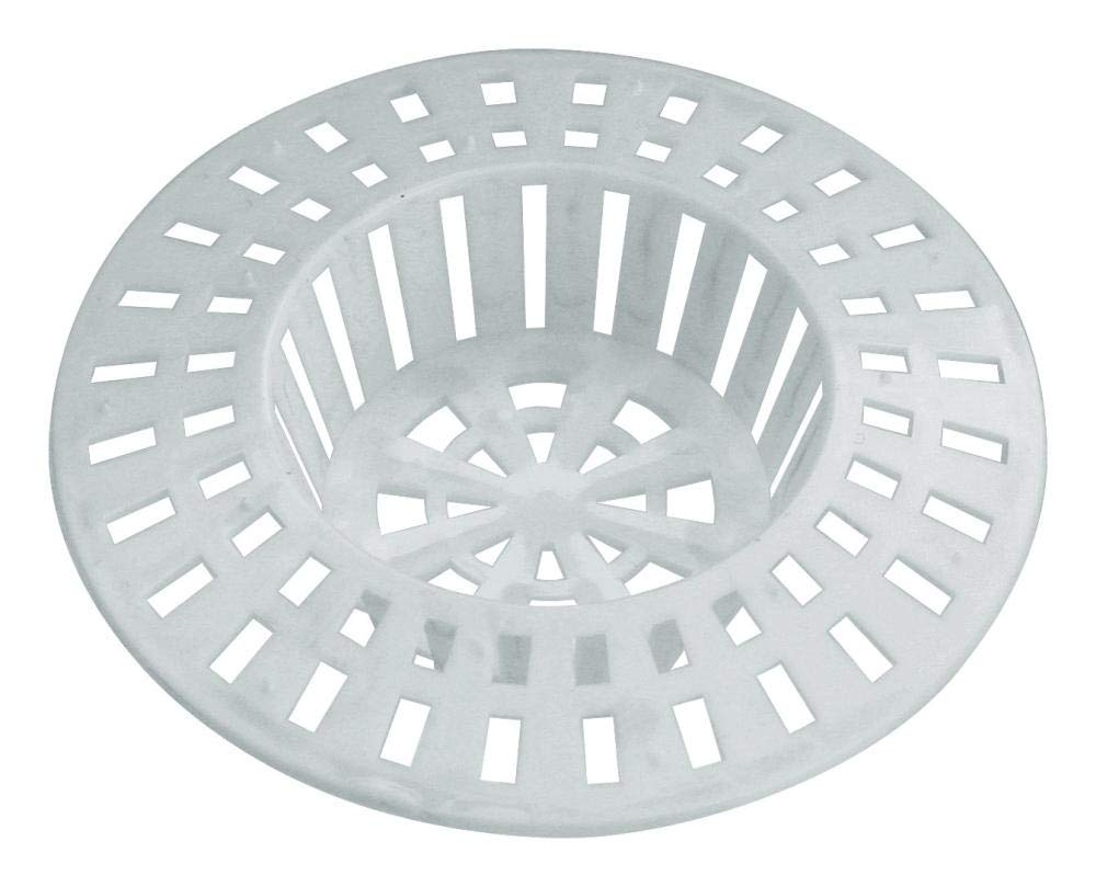 Plastic Set of 2/Available in Different Sizes and Colours white 6 cm Home Xpert Shower Hair Sieve Strainer Hair Catcher Sink Strainer