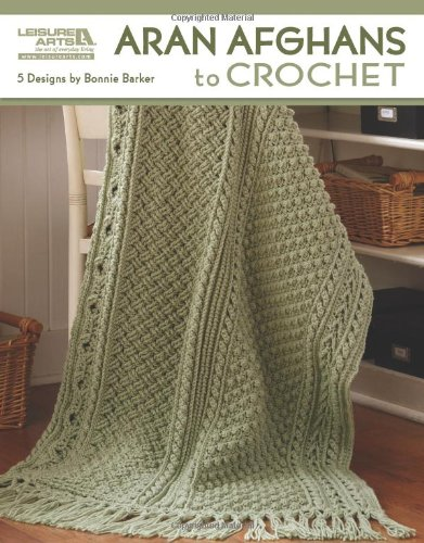 Amazon Leisure Arts Aran Afghans To Crochet 4948