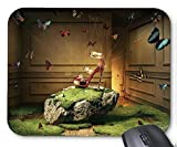 Mouse Mat Butterfly Use Silk Connect High Heels Mouse Pad 11.8X9.8 Inxh